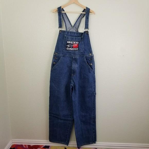 ef693d9a Tommy Hilfiger Jeans | Vintage Denim Overalls Size Large | Poshmark